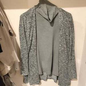 H&M divided green cardigan